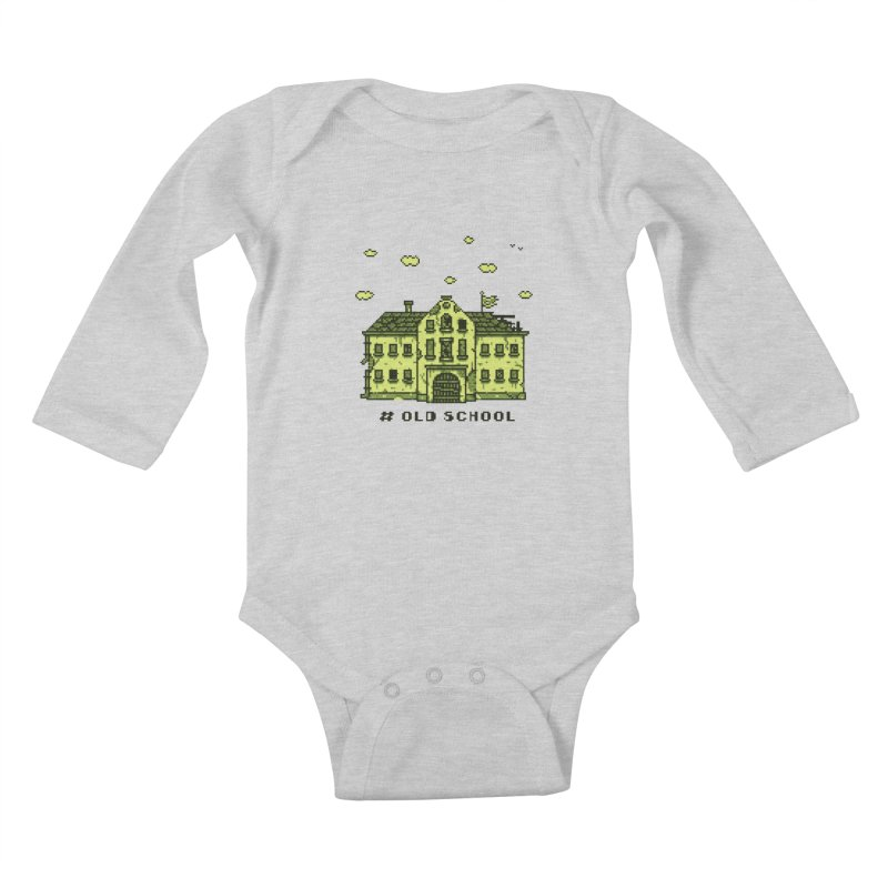 #oldschool Kids Baby Longsleeve Bodysuit by Mantichore Design
