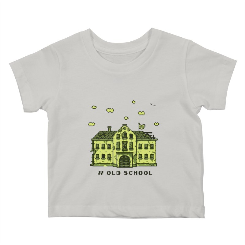 #oldschool Kids Baby T-Shirt by Mantichore Design