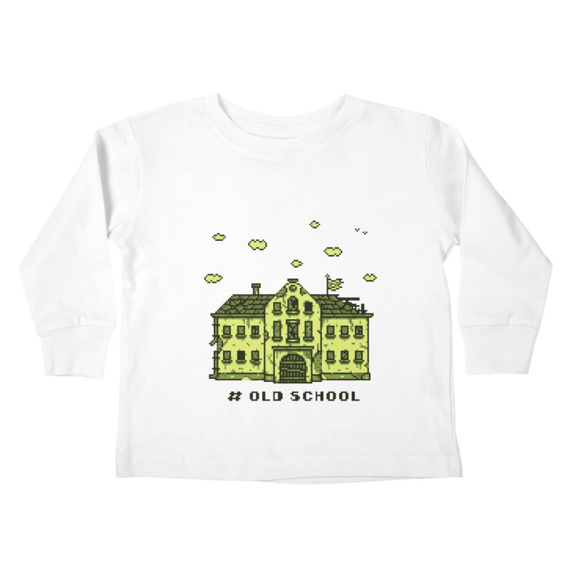 #oldschool Kids Toddler Longsleeve T-Shirt by Mantichore Design