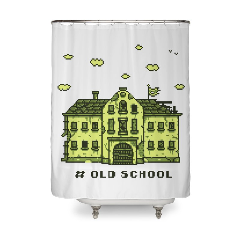 #oldschool Home Shower Curtain by Mantichore Design