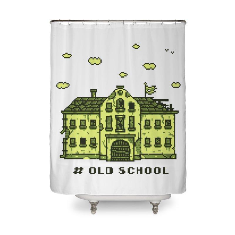 #oldschool Home Shower Curtain by Mantichore's Artist Shop