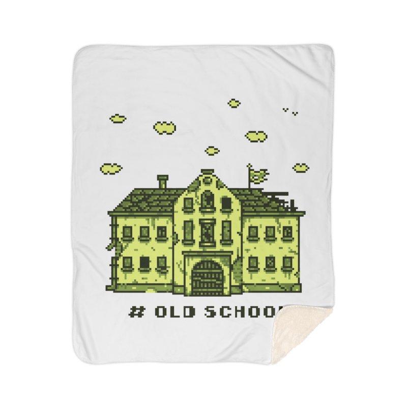 #oldschool Home Sherpa Blanket Blanket by Mantichore Design