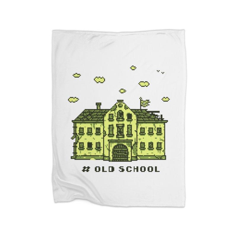 #oldschool Home Fleece Blanket Blanket by Mantichore Design