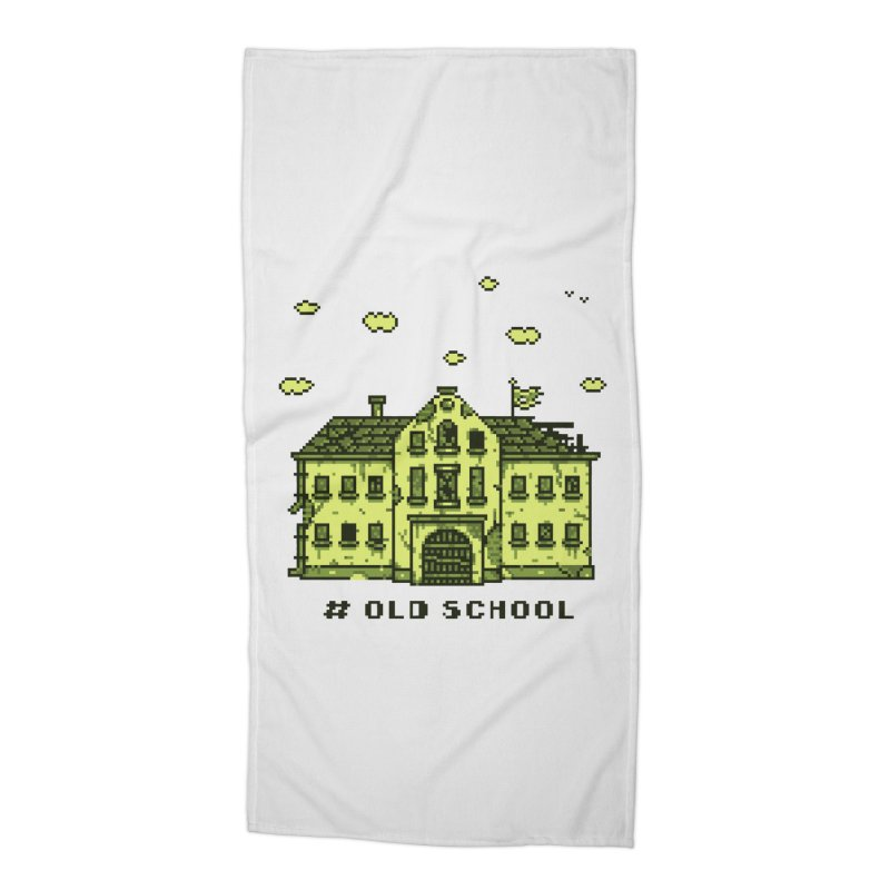 #oldschool Accessories Beach Towel by Mantichore Design