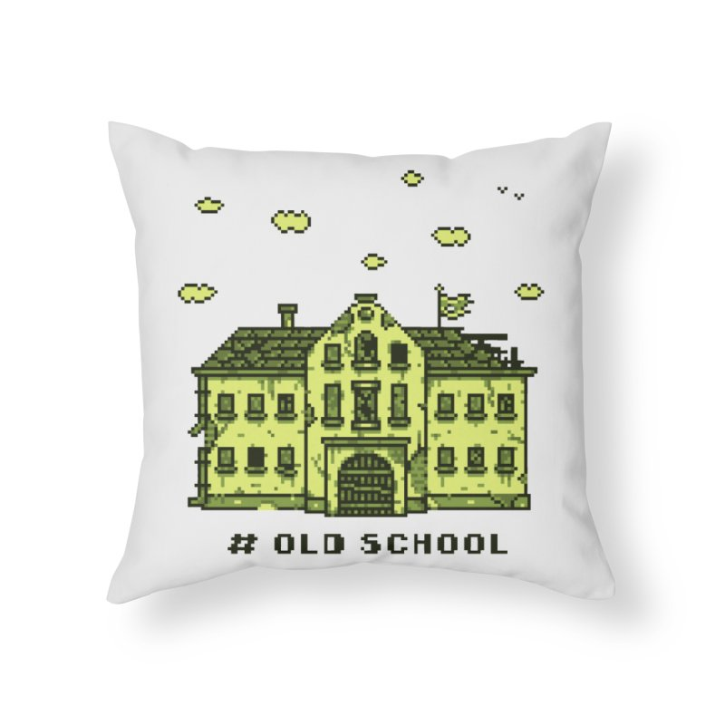 #oldschool Home Throw Pillow by Mantichore Design