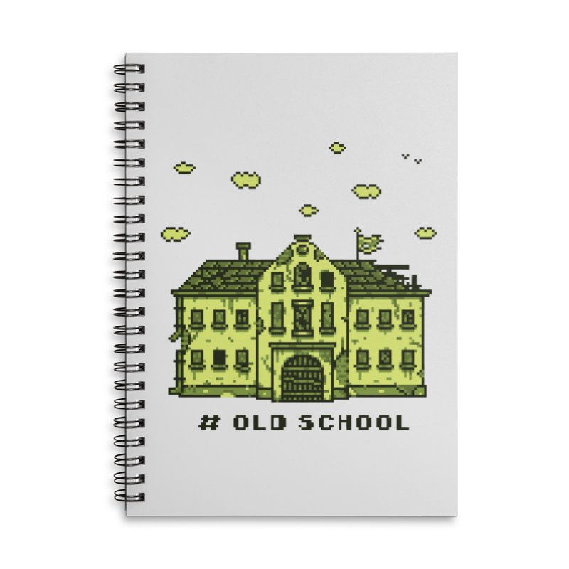 #oldschool Accessories Lined Spiral Notebook by Mantichore Design