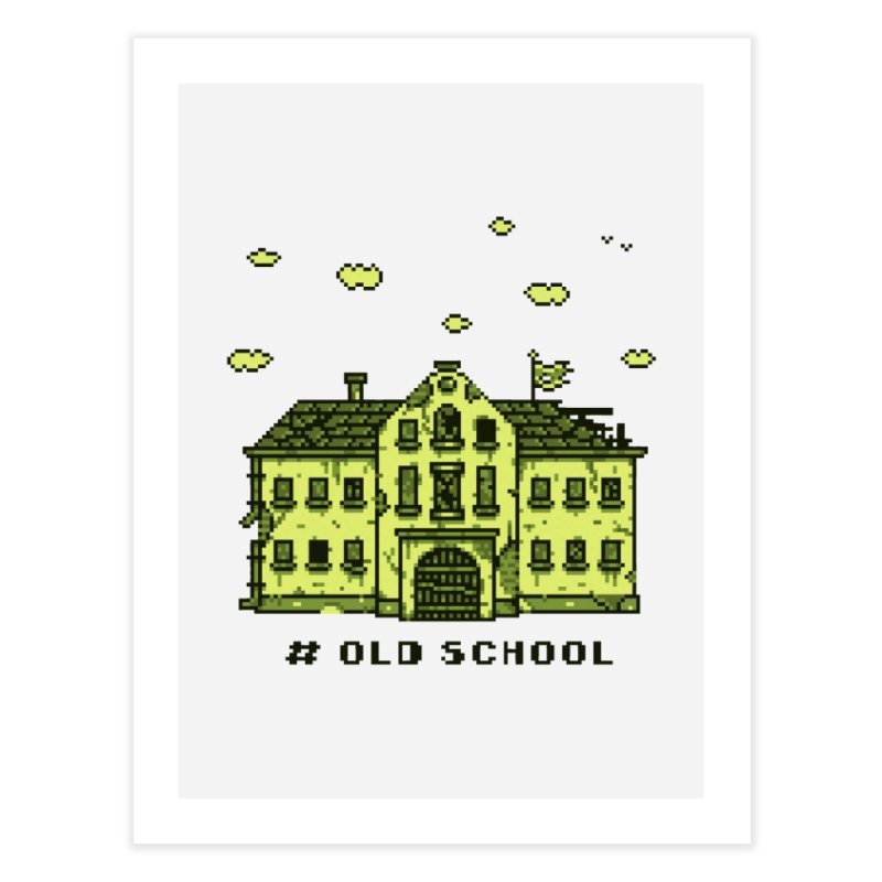 #oldschool Home Fine Art Print by Mantichore Design