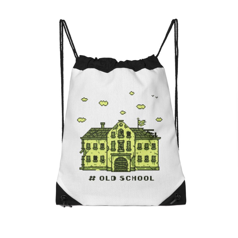 #oldschool Accessories Drawstring Bag Bag by Mantichore Design