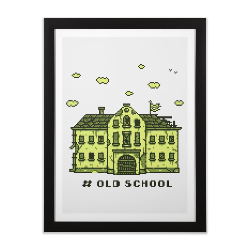 #oldschool Home Framed Fine Art Print by Mantichore Design