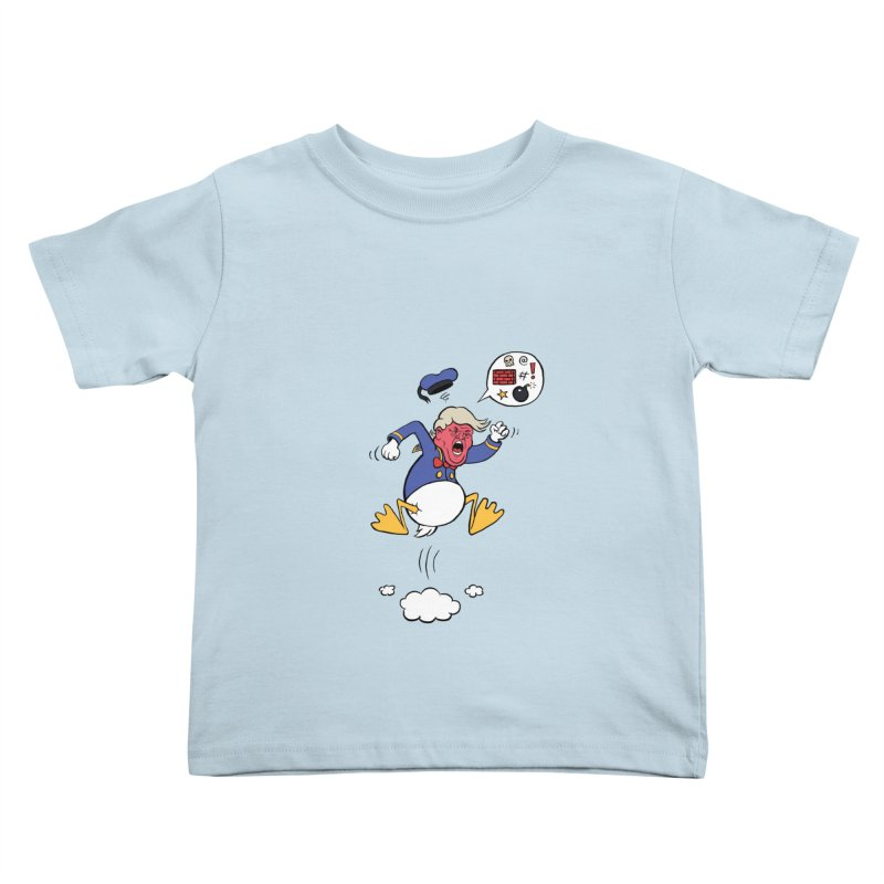 Donald in Kids Toddler T-Shirt Baby Blue by Mantichore's Artist Shop