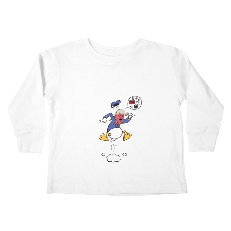 Donald Kids Toddler Longsleeve T-Shirt by Mantichore Design