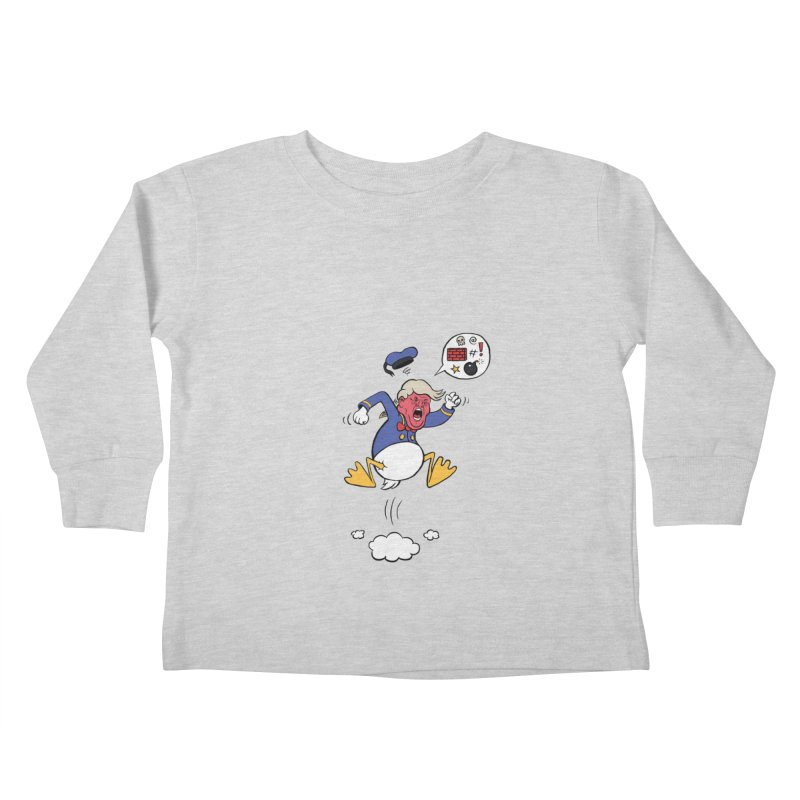 Donald Kids Toddler Longsleeve T-Shirt by Mantichore Design