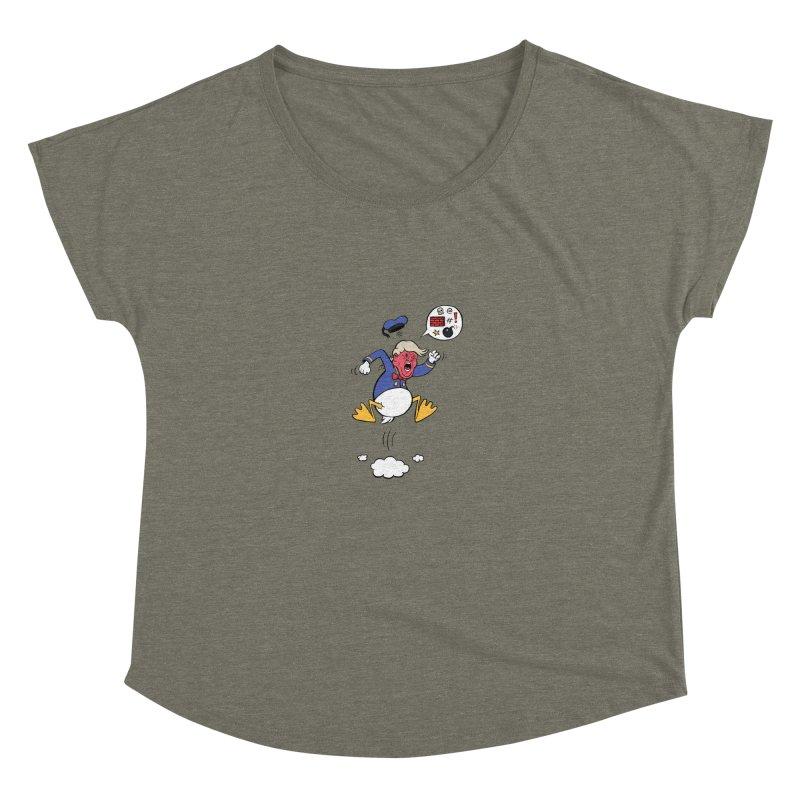 Donald Women's Dolman Scoop Neck by Mantichore Design