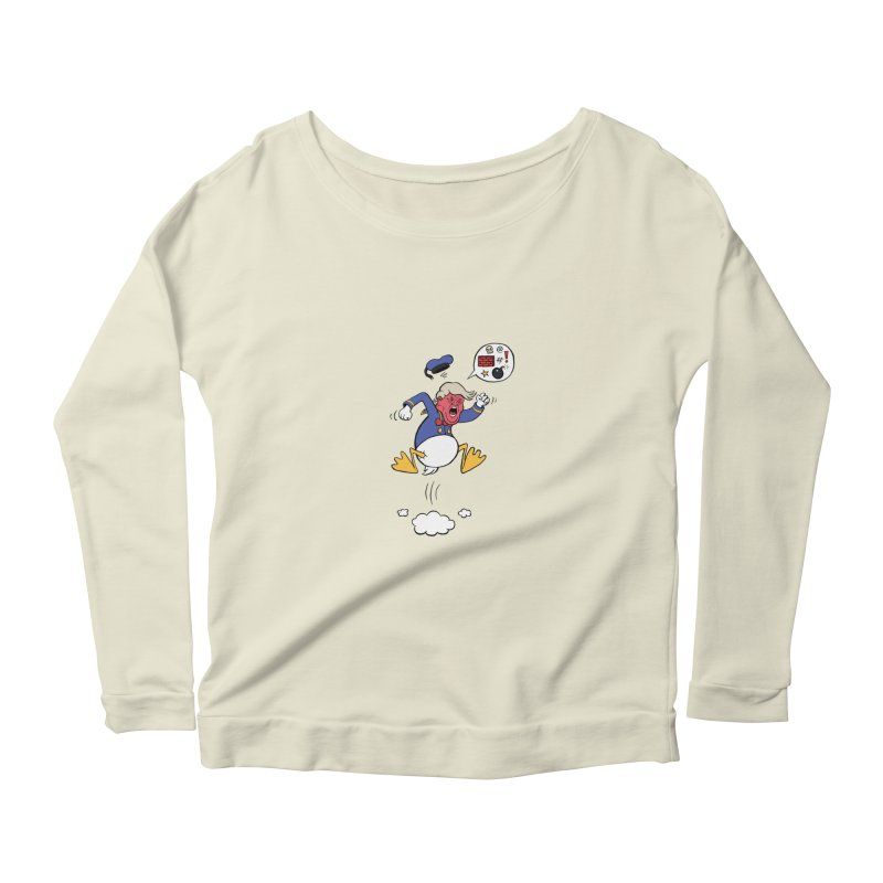 Donald Women's Longsleeve Scoopneck  by Mantichore's Artist Shop