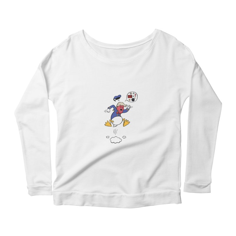 Donald Women's Longsleeve Scoopneck  by Mantichore Design