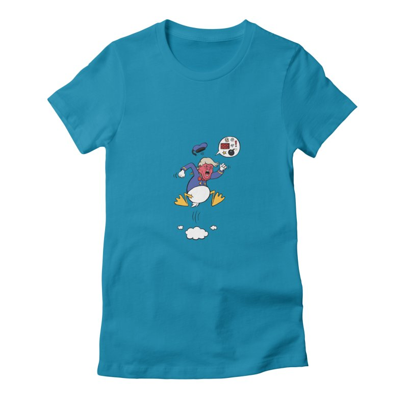 Donald Women's Fitted T-Shirt by Mantichore Design
