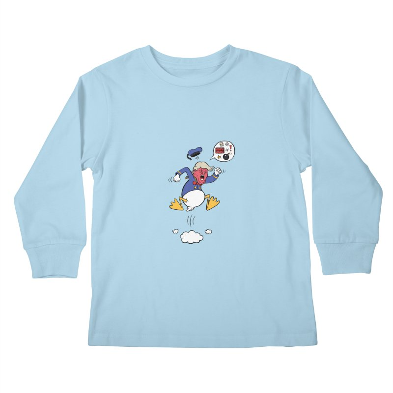 Donald Kids Longsleeve T-Shirt by Mantichore Design