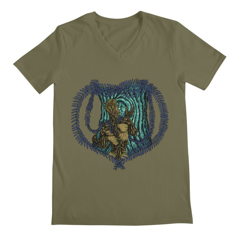 Treehuggers Men's V-Neck by Mantichore's Artist Shop