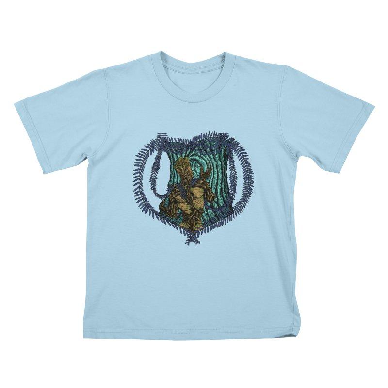 Treehuggers Kids T-shirt by Mantichore's Artist Shop