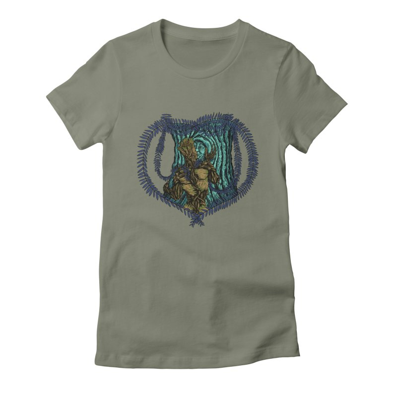 Treehuggers Women's Fitted T-Shirt by Mantichore Design