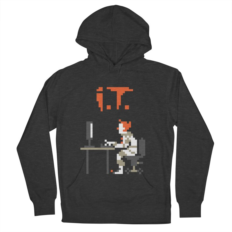 I.T. Men's French Terry Pullover Hoody by Mantichore Design