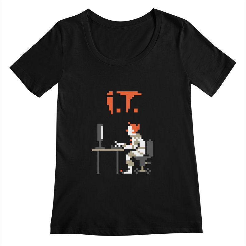 I.T. Women's Regular Scoop Neck by Mantichore Design