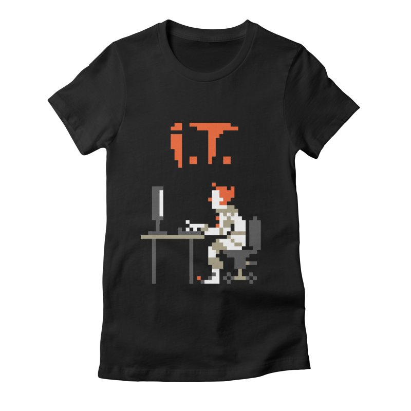 I.T. Women's Fitted T-Shirt by Mantichore Design