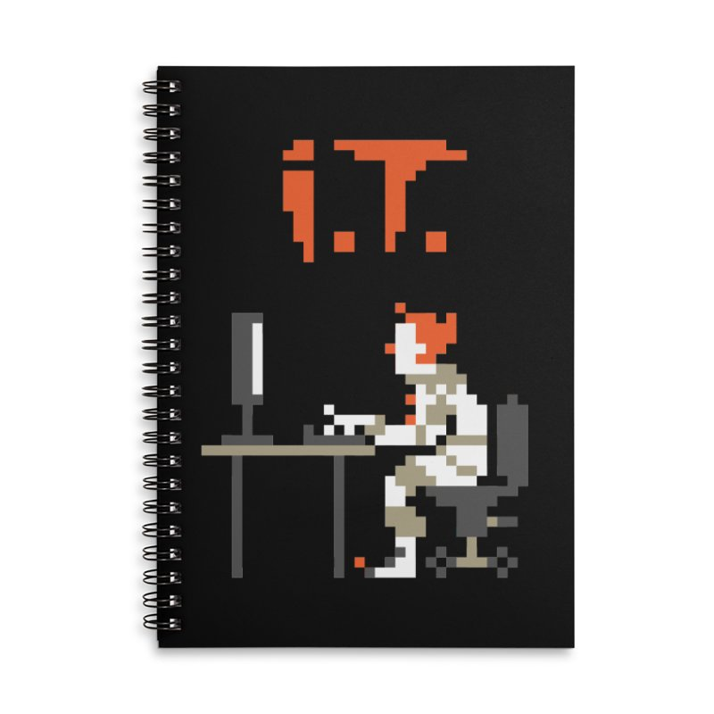 I.T. Accessories Lined Spiral Notebook by Mantichore Design