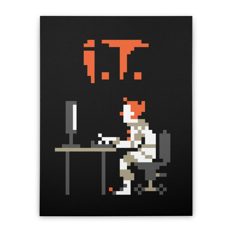 I.T. Home Stretched Canvas by Mantichore Design