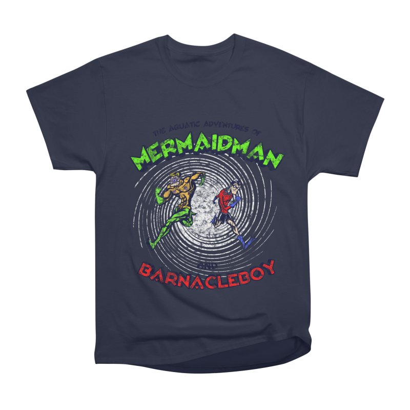 The aquatic adventures of mermaidman and barnacleboy Men's Classic T-Shirt by Mantichore Design