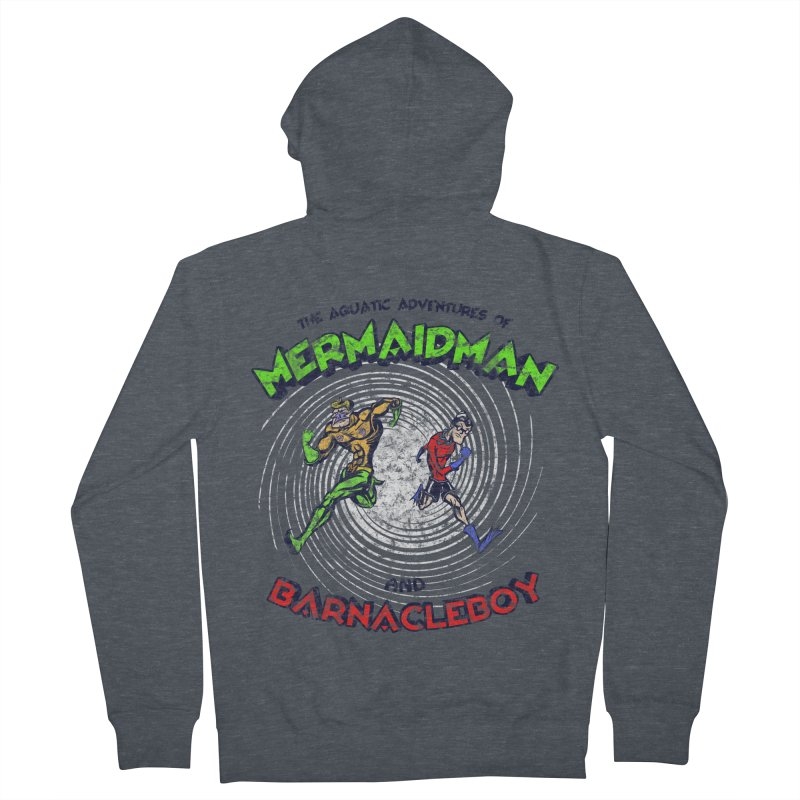The aquatic adventures of mermaidman and barnacleboy Women's French Terry Zip-Up Hoody by Mantichore Design