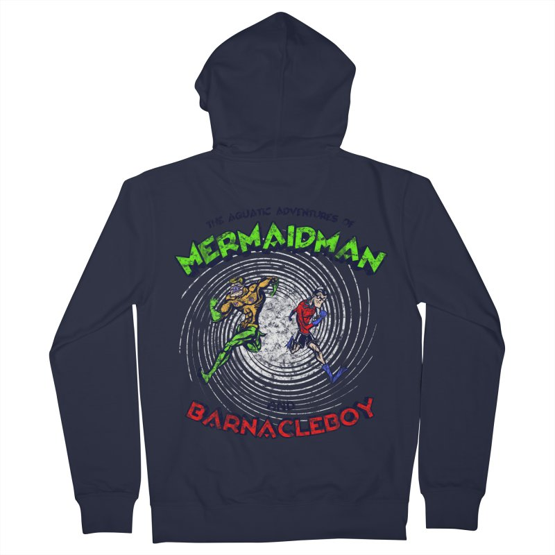 The aquatic adventures of mermaidman and barnacleboy Women's Zip-Up Hoody by Mantichore Design