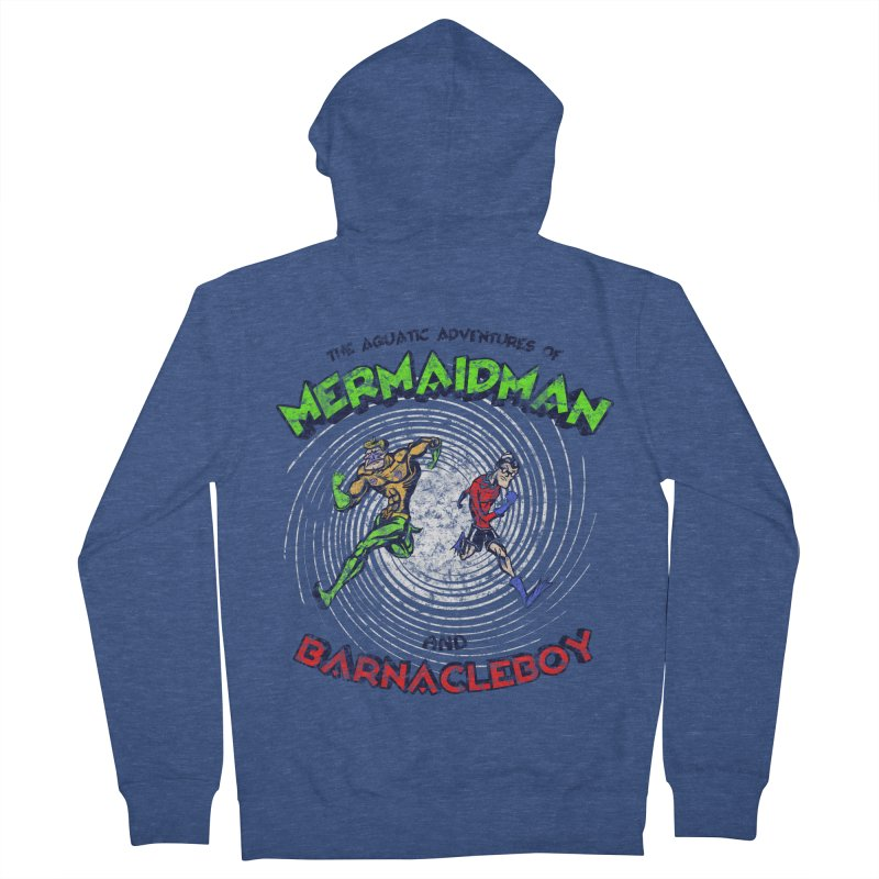 The aquatic adventures of mermaidman and barnacleboy Men's Zip-Up Hoody by Mantichore Design