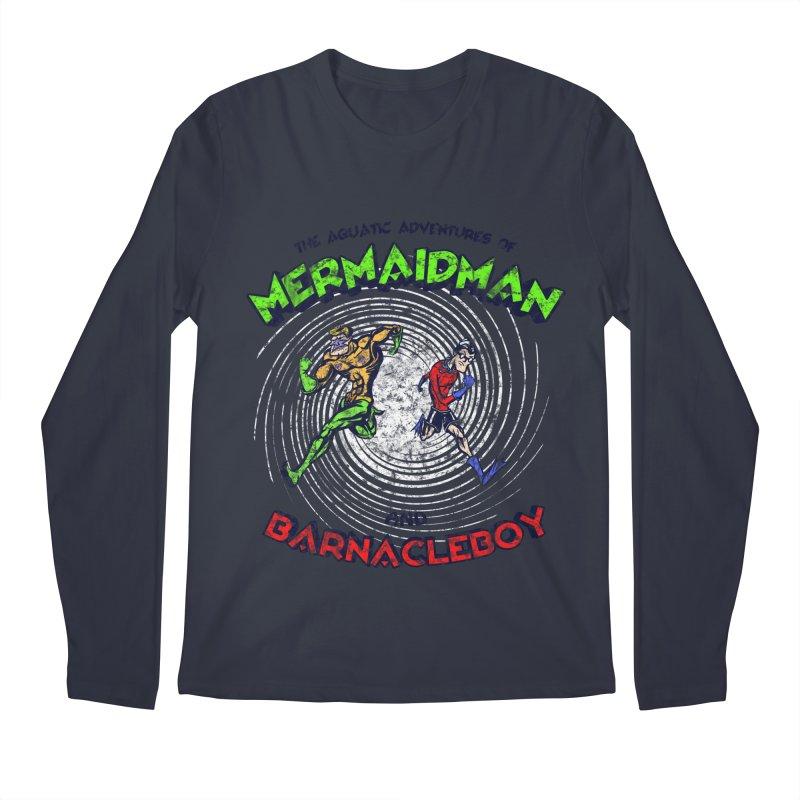 The aquatic adventures of mermaidman and barnacleboy Men's Longsleeve T-Shirt by Mantichore's Artist Shop