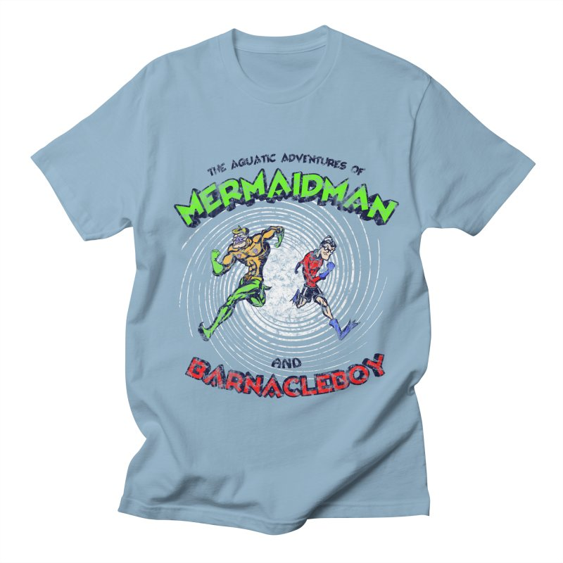 The aquatic adventures of mermaidman and barnacleboy Women's Regular Unisex T-Shirt by Mantichore Design