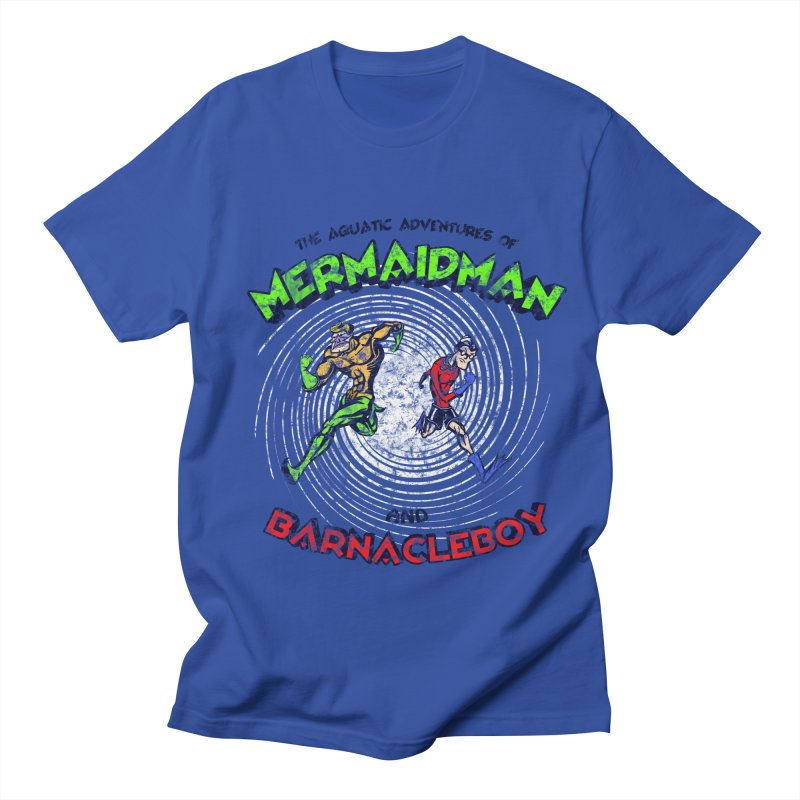 The aquatic adventures of mermaidman and barnacleboy Men's T-Shirt by Mantichore Design