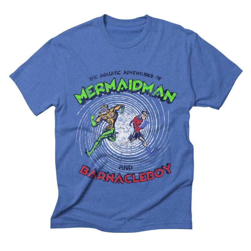 The aquatic adventures of mermaidman and barnacleboy Men's Triblend T-Shirt by Mantichore Design