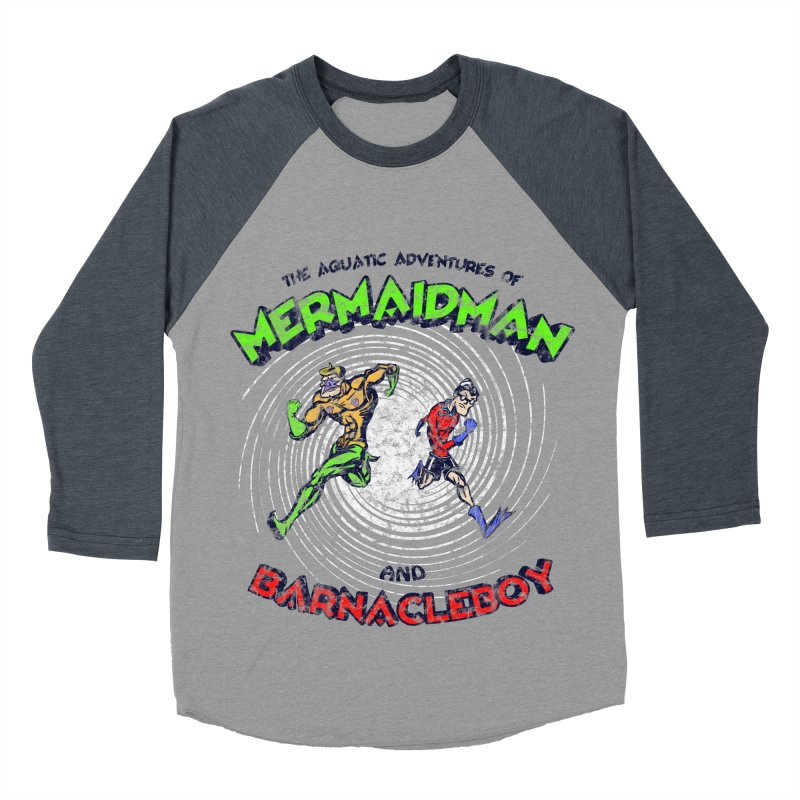 The aquatic adventures of mermaidman and barnacleboy Men's Baseball Triblend T-Shirt by Mantichore's Artist Shop