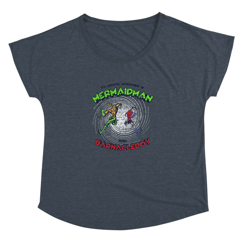 The aquatic adventures of mermaidman and barnacleboy Women's Dolman by Mantichore Design