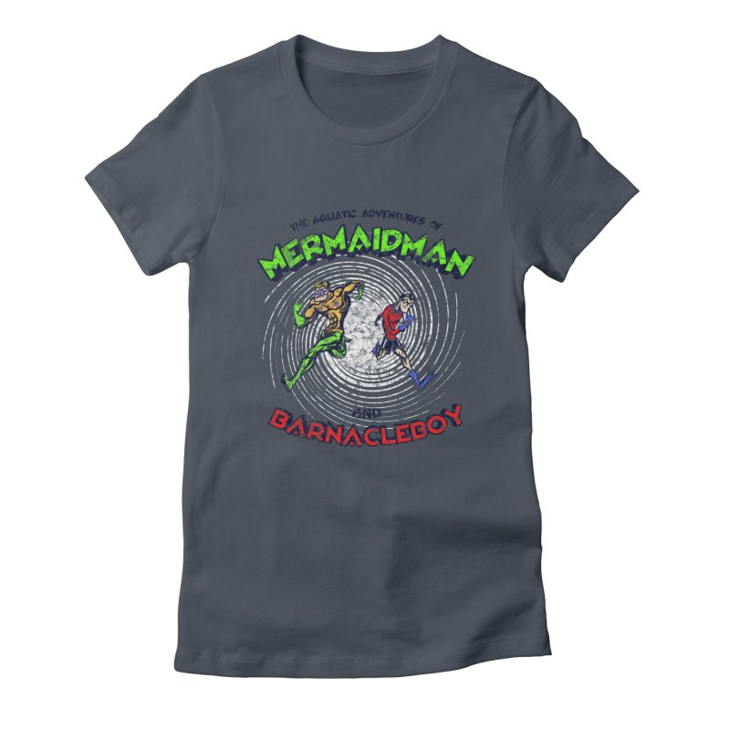 The aquatic adventures of mermaidman and barnacleboy Women's T-Shirt by Mantichore Design