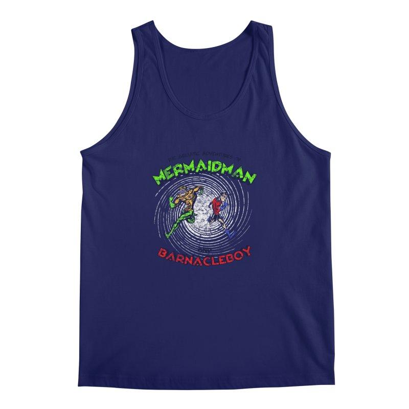 The aquatic adventures of mermaidman and barnacleboy Men's Regular Tank by Mantichore Design