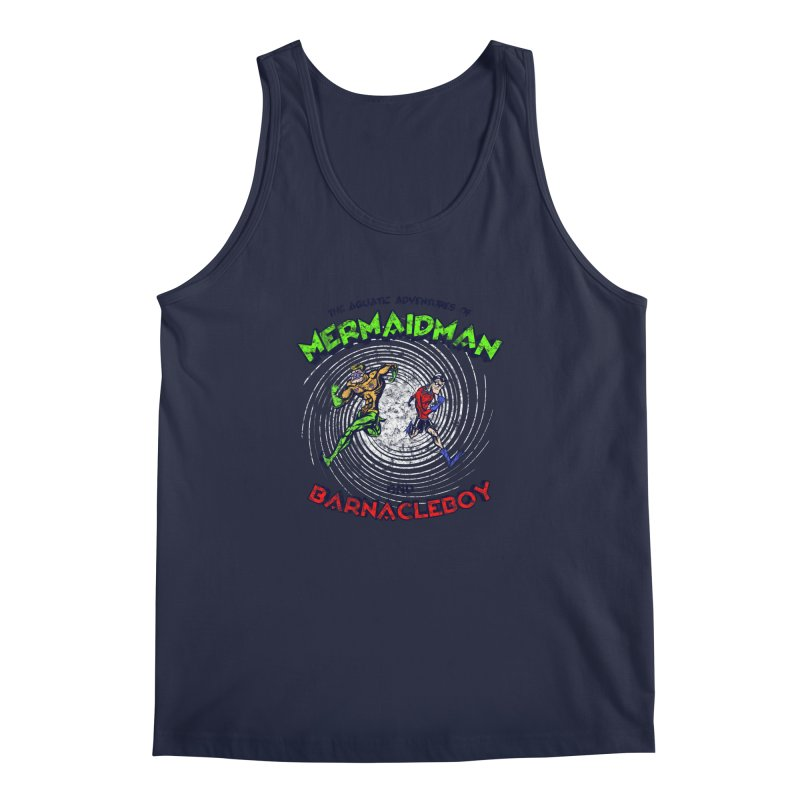 The aquatic adventures of mermaidman and barnacleboy Men's Tank by Mantichore Design