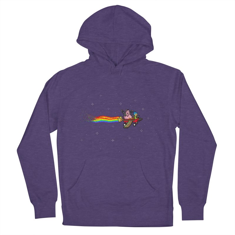 Nyanside Out Women's French Terry Pullover Hoody by Mantichore Design