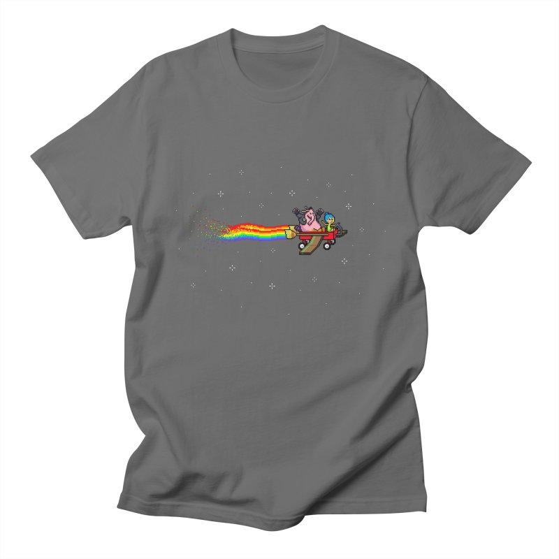 Nyanside Out Men's Regular T-Shirt by Mantichore Design