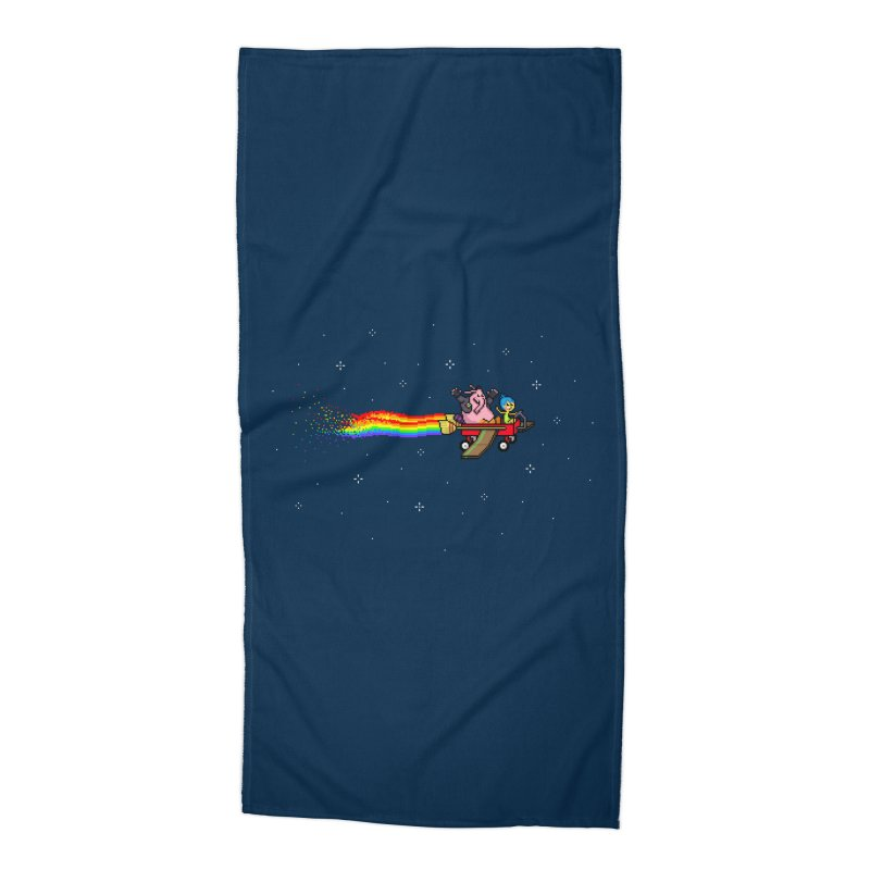 Nyanside Out Accessories Beach Towel by Mantichore Design