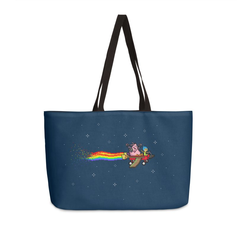 Nyanside Out in Weekender Bag by Mantichore Design