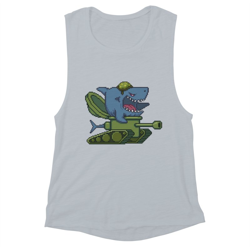 Shark Tank Women's Muscle Tank by Mantichore Design