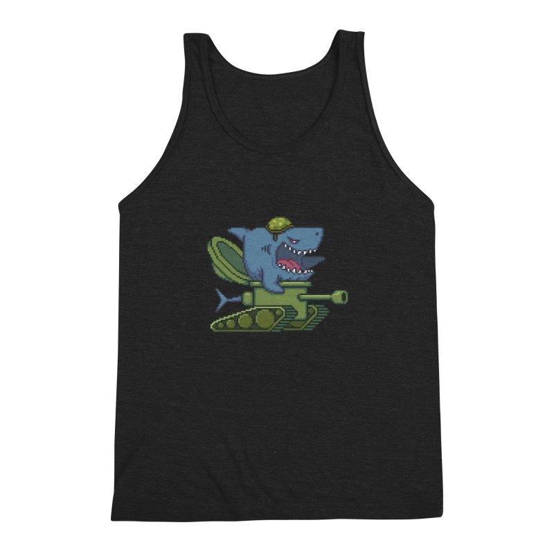 Shark Tank Men's Triblend Tank by Mantichore Design