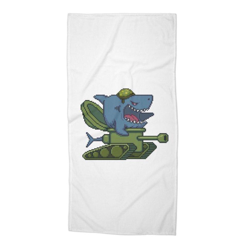 Shark Tank Accessories Beach Towel by Mantichore Design