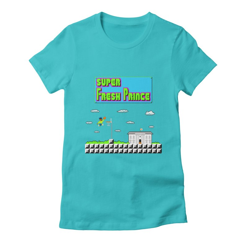 Super Fresh Prince Women's Fitted T-Shirt by Mantichore Design